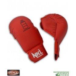 Guantilla Karate NKL Para Kumite CON PULGAR Rojo RFEK