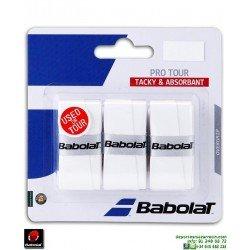 Babolat PRO TOUR Overgrip Tenis Blanco 653037-101