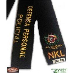 Cinturón Defensa Personal Policial NKL Negro
