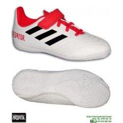 Adidas PREDATOR TANGO 18.4 Niños Blanco Zapatilla Sala Velcro CP9259