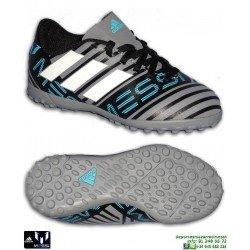 Adidas NEMEZIZ MESSI 17.4 Niño Gris-Negro Zapatilla Futbol Turf CP9218