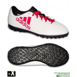 Adidas X Tango 17.4 Niños Blanco-Rojo Zapatilla Futbol Turf Minitacos CP9044