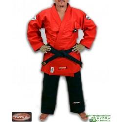 Kimono NKL Jiu Jitsu SHIRAKAWA Rojo Tradicional 16oz JJKIM00001RB