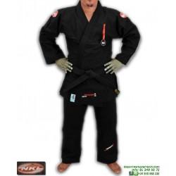 Kimono NKL Jiu Jitsu SHIRAKAWA Negro Tradicional 16oz JJKIM00001BL