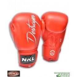 Guante Boxeo NKL DESTROYER Rojo CGU00002-RO muay thai kick boxing mma personalizar