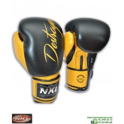Guante Boxeo NKL DESTROYER Nego CGU00002-NE muay thai kick boxing mma personalizar