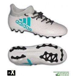 ADIDAS X 17.3 AG Calcetin Blanca Bota Futbol Hierba Artificial