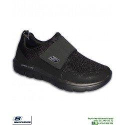 Zapatilla Hombre Skechers FLEX ADVANTAGE 2.0 GURN Negro