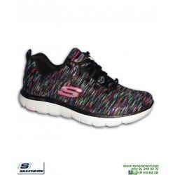 Deportiva Mujer Skechers Flex Appeal 2.0 Reflection Gris 12908/BKMT Memory Foam