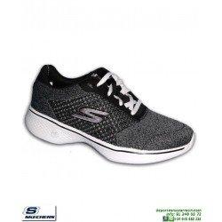 Deportiva Mujer Skechers GO WALK 4 EXEED Negro 14146/BKW Memory foam
