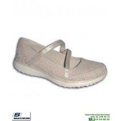 Skechers Mujer MICROBURST PURE ELEGANCE natural zapatilla Memory Foam 23343/NAT