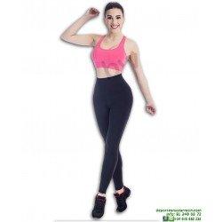 Malla Mujer Vientre Plano BWELL Negro Leggin 2387-SN13-GS13 happy dance
