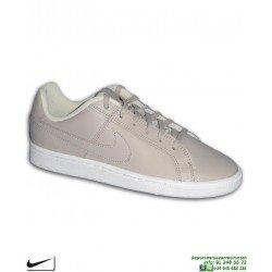 Zapatilla Clasica Nike COURT ROYALE Chica Piel Beige 833535-201