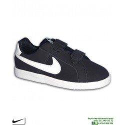 Zapatilla Niño Nike COURT ROYALE Velcro (PSV) Azul Marino