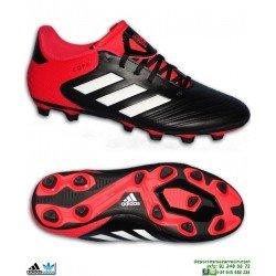 Adidas COPA 18.4 FxG Bota Futbol Tacos Negro-Rojo Hombre