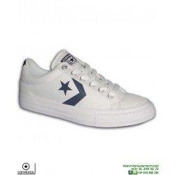 Sneaker CONVERSE STAR PLAYER OX Blanca Junior deportiva lona tela Moda 655410C