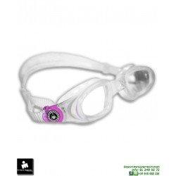 Gafa Natación Aqua Sphere MAKO Transparente-Rosa