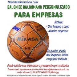 Balon de Balonmano PERSONALIZADO Para Empresas Logotipo y Nombre