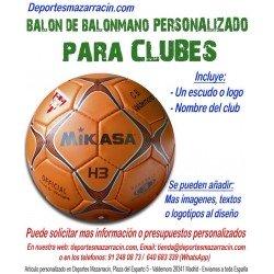 Balon de Balonmano PERSONALIZADO Para clubes escudo y Nombre