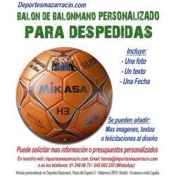 Balon de Balonmano PERSONALIZADO Para Despedidas soltero Logotipo imagen Nombre y fecha