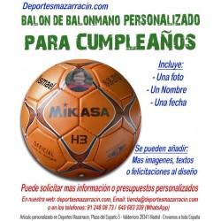 Balon Balonmano PERSONALIZADO Para Cumpleaños imagen foto nombre fecha
