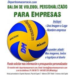 Balón de Voleybol PERSONALIZADO Para Empresas Logotipo imagen escudo y Nombre