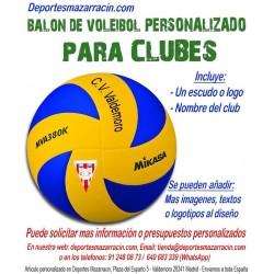 Balón de Voleibol PERSONALIZADO Para clubes escudo Logotipo y Nombre