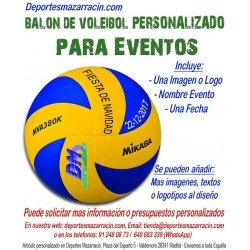 Balón de Voleibol PERSONALIZADO Para Eventos Logotipo imagen Nombre fecha
