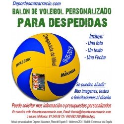 Balón de Voleibol PERSONALIZADO Para Despedidas de Soltero imagen Nombre fecha