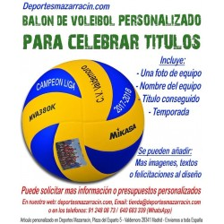 Balón de Voleibol PERSONALIZADO Para Celebrar Titulos Imagen grupal Nombre equipo fecha temporada