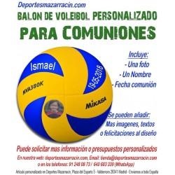Balón de Voleibol PERSONALIZADO Para comuniones Imagen foto Nombre fecha