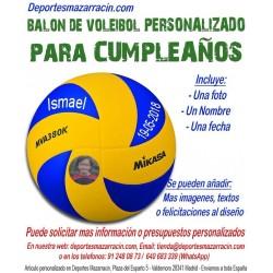 Balón de Voleibol PERSONALIZADO Para Cumpleaños Imagen foto Nombre fecha