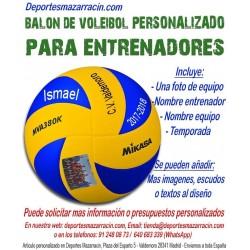 Balón de Voleibol PERSONALIZADO Para entrenadores Imagen foto Nombre entrenador equipo fecha temporada