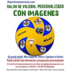 Balón de Voleibol PERSONALIZADO Con Imagenes foto escudo jugadores equipo nombre