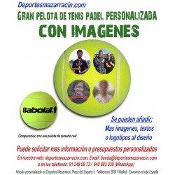 Pelota de Tenis Padel Gigante PERSONALIZADA Con Imagenes