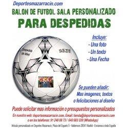 Balón de Futbol Sala PERSONALIZADO Para despedidas soltero imagen texto fecha