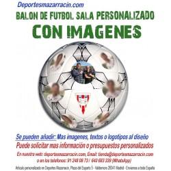 Balón de Futbol Sala PERSONALIZADO Con Imagenes Mikasa