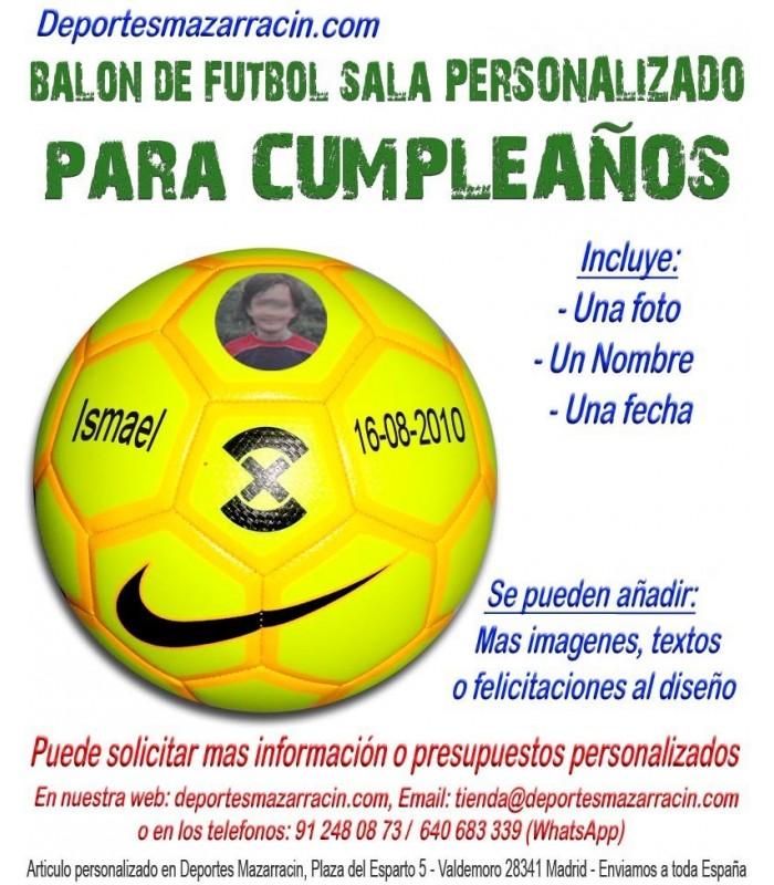 Balón de Futbol Sala PERSONALIZADO Para cumpleaños fecha Nombre Imagen a5050e456e23d