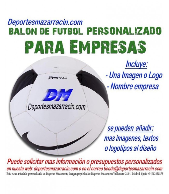 Balon Futbol PERSONALIZADO Para Empresas nike Logotipo imagen Nombre fbbafff35ed75