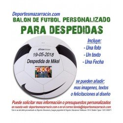 Balon Futbol PERSONALIZADO Para despedida de soltero nike Logotipo imagen Nombre Evento fecha pitch SC3166-100