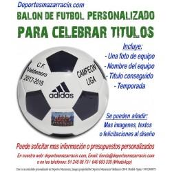 Balon Futbol PERSONALIZADO Para celebrar Titulos EPP Imagen Nombre equipo fecha temporada Adidas CD6577