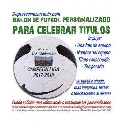Balon Futbol PERSONALIZADO Para celebrar titulos nike Imagen Nombre equipo fecha temporada pitch