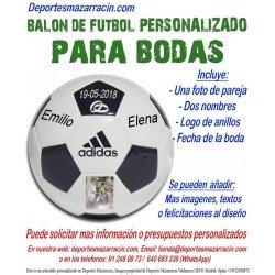 Balon Futbol PERSONALIZADO Para bodas EPP Imagen pareja Nombres novios anillos fecha Adidas CD6577