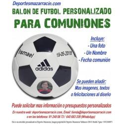 Balon Futbol PERSONALIZADO Para comuniones EPP Imagen foto Nombre fecha Adidas CD6577