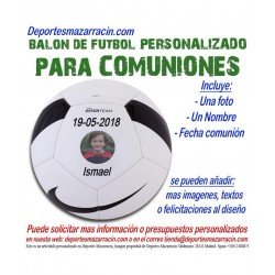 Balon Futbol PERSONALIZADO Para comuniones nike Imagen foto Nombre fecha pitch SC3166-100