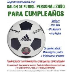 Balon Futbol PERSONALIZADO Para Cumpleaños EPP Imagen foto Nombre fecha Adidas CD6577
