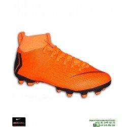 Nike MERCURIAL SUPERFLY 6 ACADEMY Niño Calcetin Naranja Bota Futbol MG