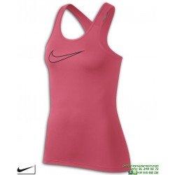Camiseta Mujer NIKE PRO TANK Tirantes Rosa 889560-823 Poliester dri fit