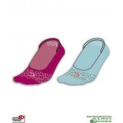 Calcetin Invisible Rosa-Celeste Fino John Smith dos Pares C18103