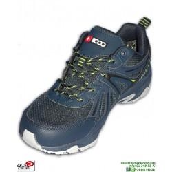 Deportiva Senderismo Trekking JOHN SMITH +8000 TELMO suela Vibram azul marino zapatilla montaña